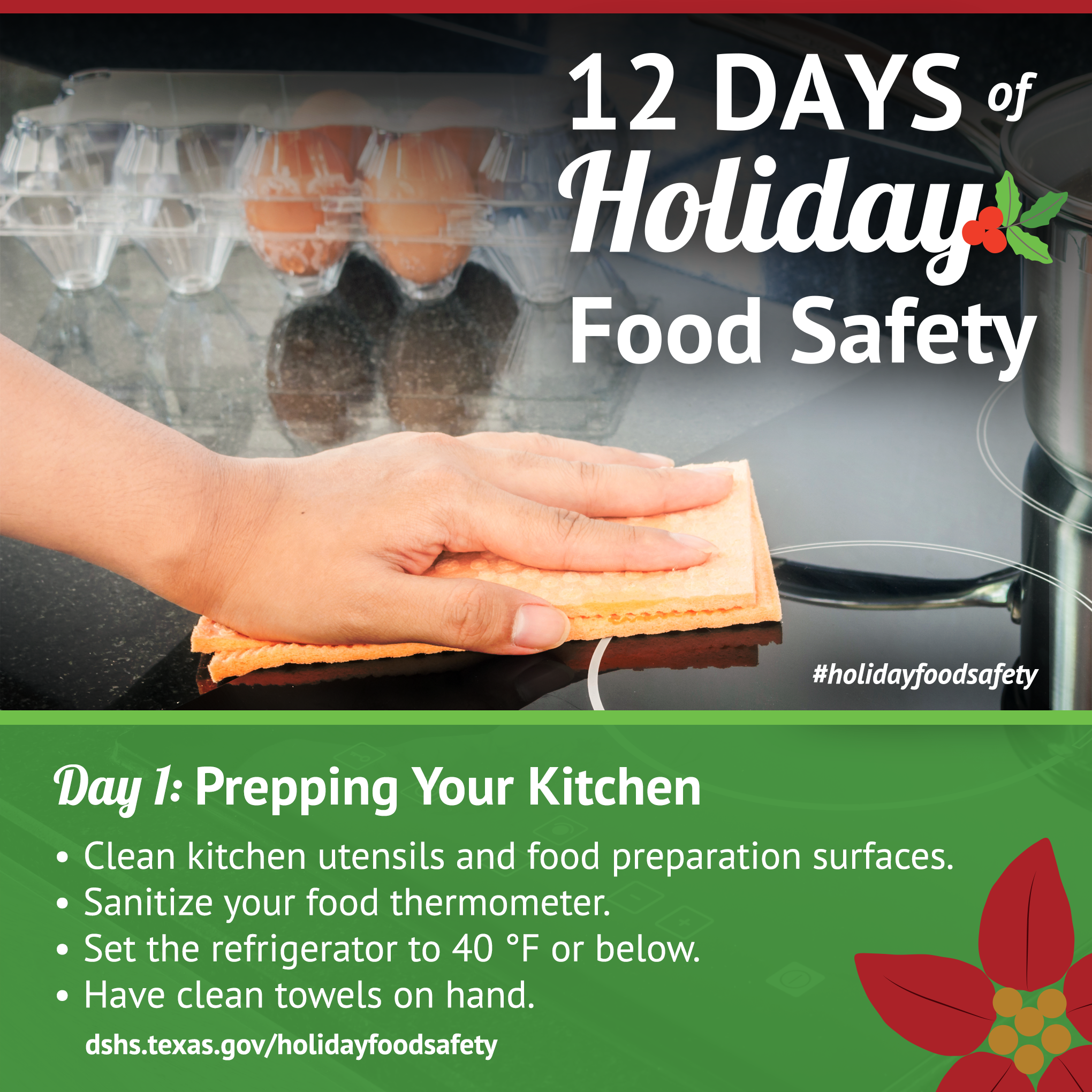 12 days of holiday food safety 12 days of holiday food safety day 1 prepping your kitchen 1betcityfo Choice Image