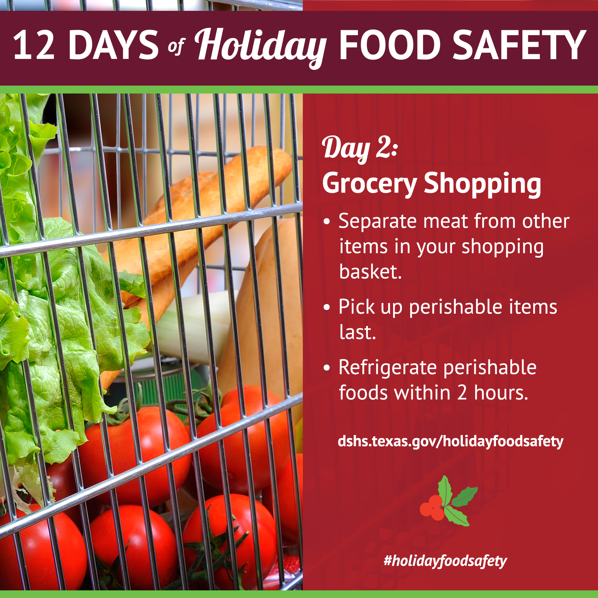 12 days of holiday food safety 12 days of holiday food safety day 2 grocery shopping 1betcityfo Choice Image