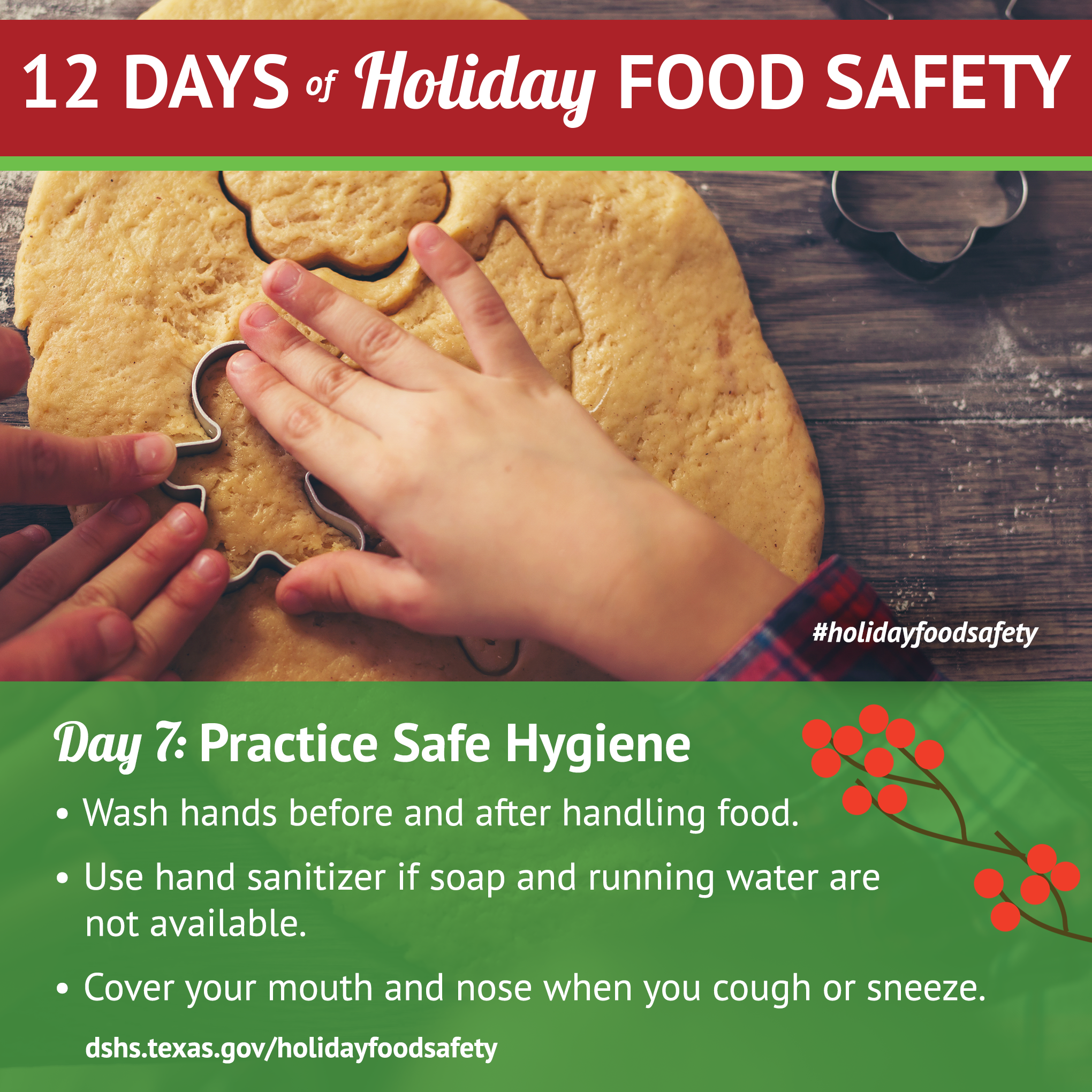 Day7 holiday food safetyg 12 days of holiday food safety day 7 practice safe hygiene 1betcityfo Choice Image