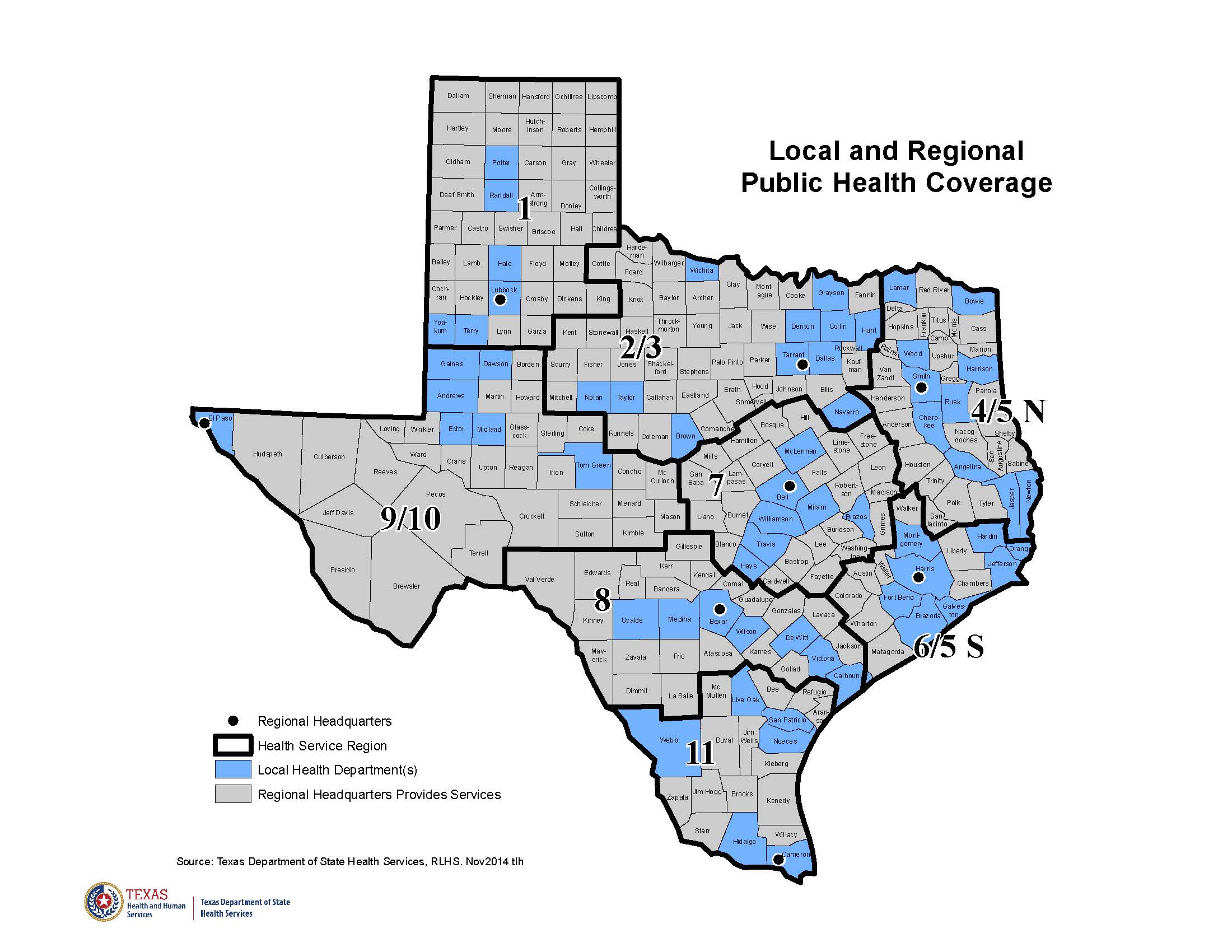 Local and Regional Public Health Coverage Strategy Map 2017