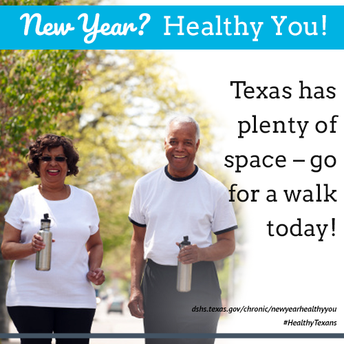 Texas has plenty of space. Go for a walk today.
