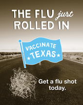 The flu just rolled in poster
