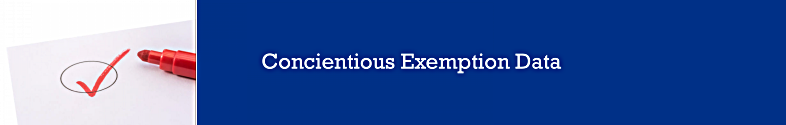 Conscientious Exemption Data
