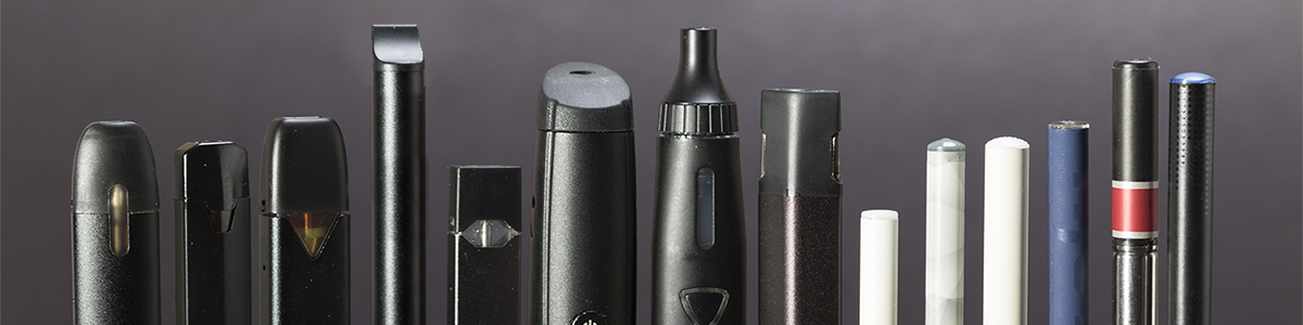 photo of various e-cigarette and vaping devices