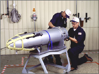 Pantex Technicians Working on Bomb